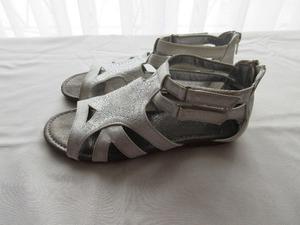 Sandalias de cuero ecologico, con brillos, para nena, marca