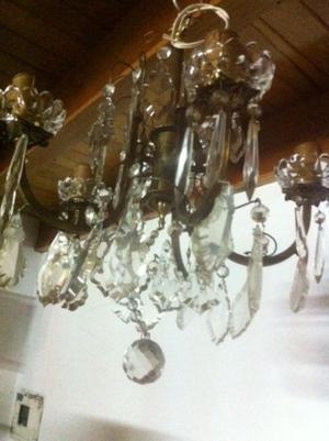Araña de Bronce Frances 4 luces