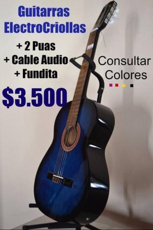 Guitarras Clasicas Electro Criollas ++ Accesorios de regalo.