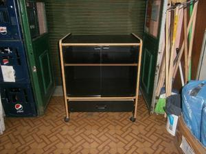 mesa de tv de madera negra