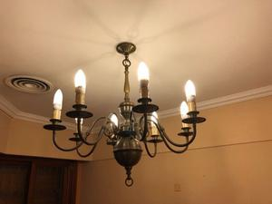 Lámpara colgante de bronce 8 luces