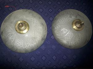 vendo lamparas antiguas de bronce y cristal tallado $