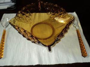 Centro de mesa antiguo cristal $ 200
