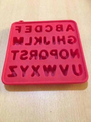 Molde silicona abecedario