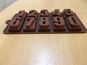 Molde silicona números para jabón, chocolate