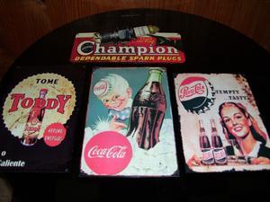 carteles vintage de chapa pintados pesos 400