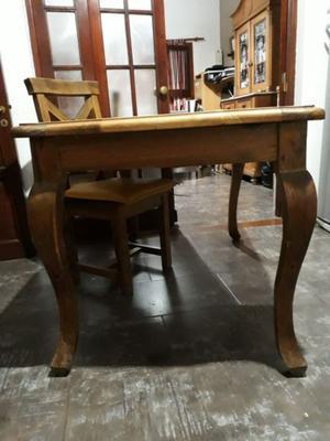 vendo juego mesa y 4 sillas