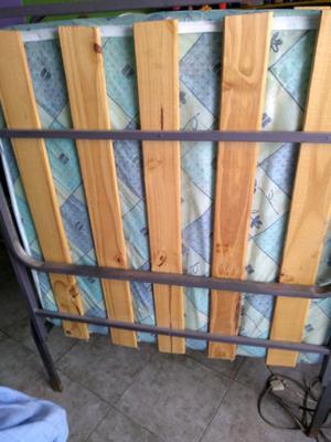 Cama jaula 1 plaza. Con colchón