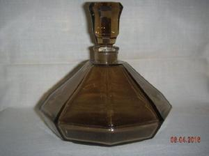 Perfumero De Cristal Fumé - Altura: 12 Cm