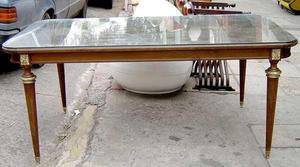 mesa comedor ingles rectangular marqueteria bronceria