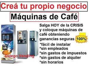 NEGOCIO RENTABLE MAQUINAS DE CAFE FONDO DE COMERCIO
