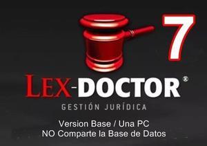 Lex Doctor 7 Base -1 Pc Cliente- Abogados Estudios Juridicos