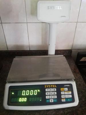 VENDO BALANZA DIGITAL SYSTEL CROMA 31 KG C/TORRE COMO NUEVA