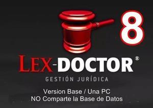 Lex Doctor 8.0 Base 1 Pc Cliente Abogados Estudios Juridicos