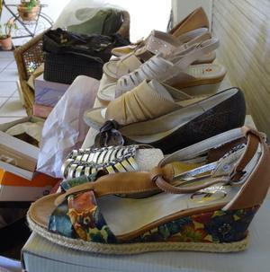 Lote Carteras Nuevas Y Usadas Y Zapatos Nuevo Cuero