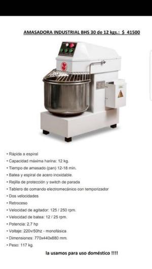 Amasadora Industrial HBS 30 de 12 kgs.