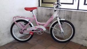 Bicicleta De Paseo Rosa Rodado 16 Muy Buena Lista Para Usar!