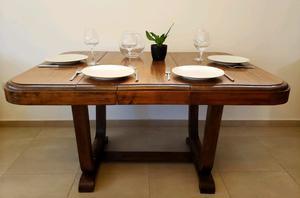 Hoy  mesa madera maciza antigua