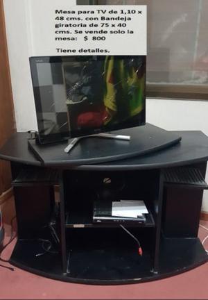 Mesa TV con bandeja giratoria