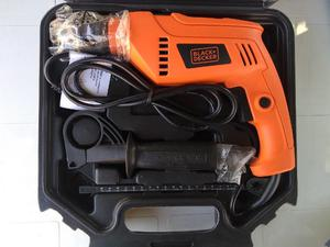 Taladro Percutor Black + Decker 650w con maletin
