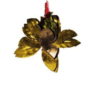 Flor para poner vela unica de cumpleanios de adultos mayores