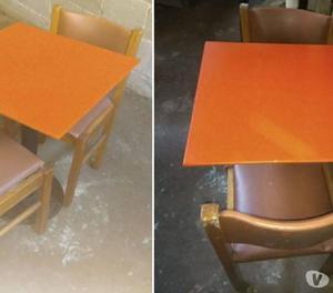 Vendo 20 mesas de bar con sillas, espiado grande