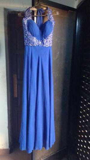 Vendo vestido de fiesta azul francia