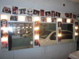 panel con espejos con luces para camarines y peluquerias