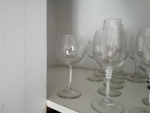 Copas de cristal sin uso diferentes medidas.