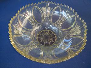 Frutera antigua de vidrio