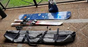 Equipo Esqui Ski (botas, Tablas Y Baston) Tabla Snowboard