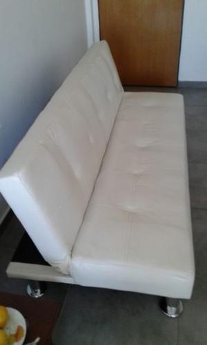 Sofa cama una plaza cuero ecologico, como nuevo