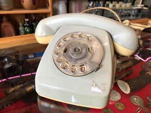 Teléfono Antiguo A Disco Perfecto Estado
