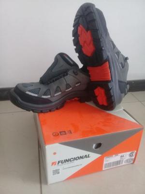 Zapatillas de seguridad sin uso marca FUNCIONAL - Talle 44