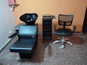 lavacabeza, silla de Corte, ayudante de peluquería