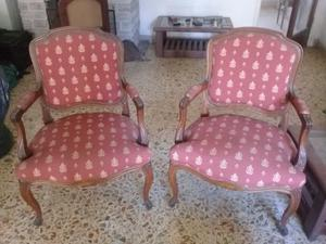 Juego de dos sillones antiguos