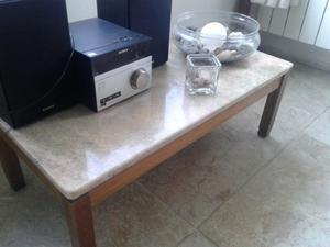 Vendo mesa ratona madera y mármol