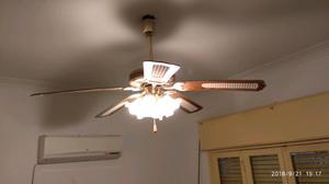 Ventilador de techo con 4 lamparas