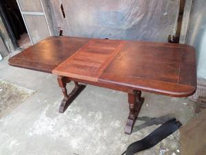 juego de comedor de algarrobo mesa extensible y 6 sillas