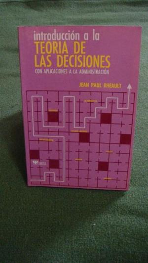 Libro Introducción a la Teoría de las Decisiones
