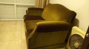Sofa de 2 cuerpos en pana excelente
