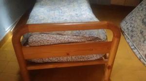 cama de una plaza con colchon