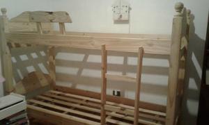 Cama superpuesta cucheta/ marinera en madera de pino macizo.