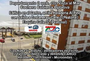 Dep Centro 2 Amb.vista Al Mar, Wifi,2 Tv C/cable,gas Natural