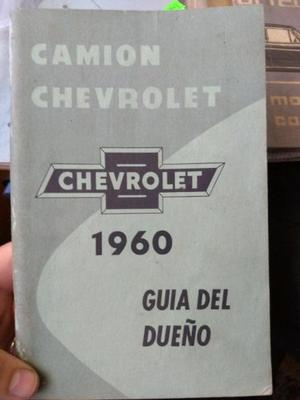 Manual de usuario original camioneta/camiones Chevrolet