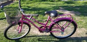 bicicleta de mujer rodado 26 en buen estado, con canasto