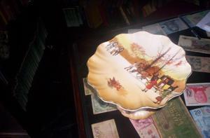 Antiguo Plato De Torta O Masitas Con Pie Royal Doulton