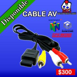 Cable Audio y Video Nintendo 64,GameCube y Super Nintendo
