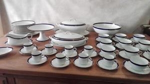 Juego De Porcelana Inglesa Bleu De Roi Alfred Meakin. #