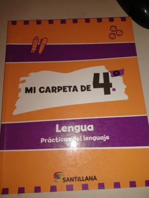 Mi Carpeta De 4 Lengua - Santillana NUEVO SIN USO!!